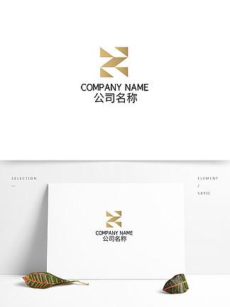 矢量矩形渐变金属科技logo