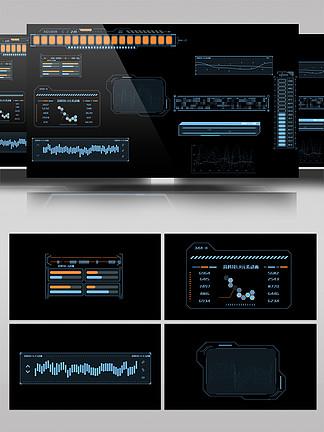 10組高科技HUD屏幕UI元素動畫合集