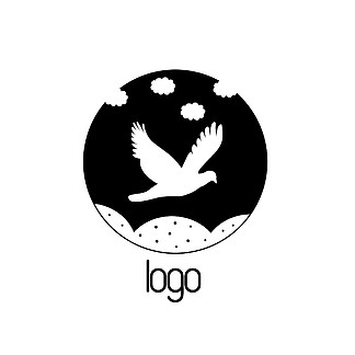 千图励志黑白logo