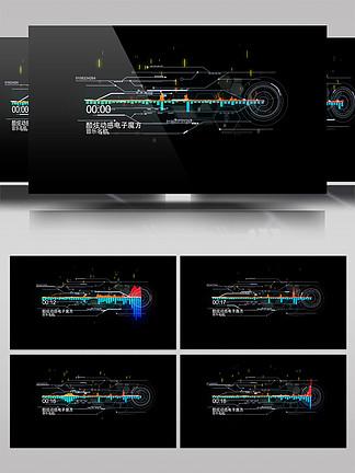 HUD高科技音頻可視化頻譜AE模板2