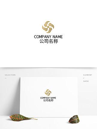 地产时尚高级金属渐变logo