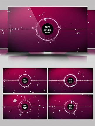 科技感音頻可視化AE模板1