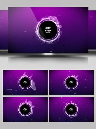 科技感音頻可視化AE模板7