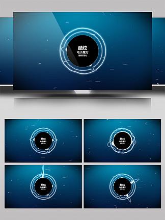 科技感音頻可視化AE模板8