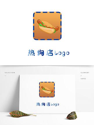 原創手繪熱狗店logo