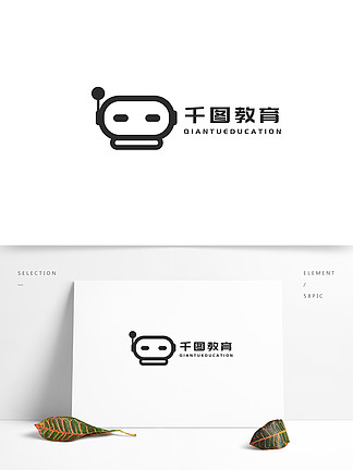 原創手繪教育機器人logo