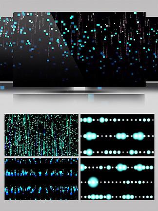 高科技數據流背景裝飾元素合集四個AE模板