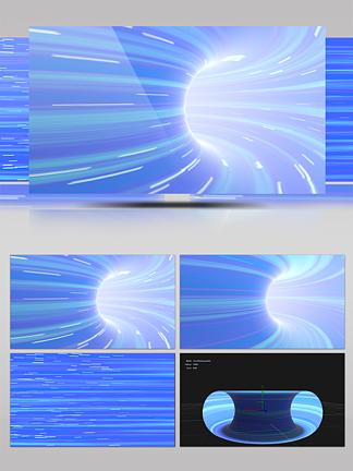 3D蟲洞高科技隧道穿梭背景