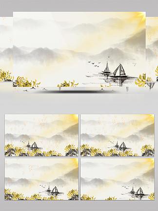 菊花唯美中國風水墨