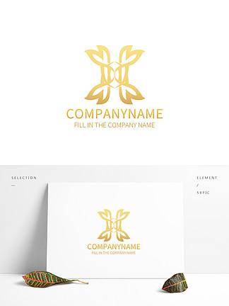 简约抽象X字母logo标志设计