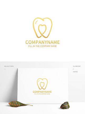 简约手绘牙医卫生logo标志设计