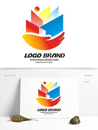 简约多彩建筑房产logo标志设计