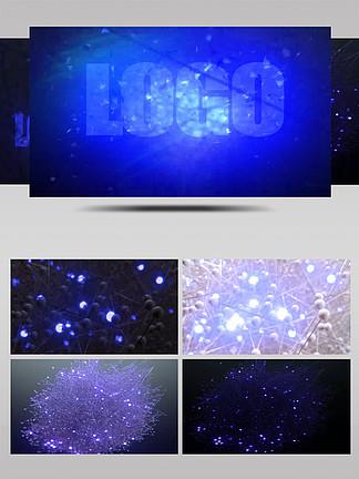 藍色高科技分子組合模板