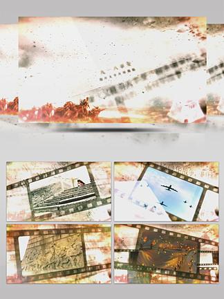 電影膠卷回顧918歷史事件圖文模板