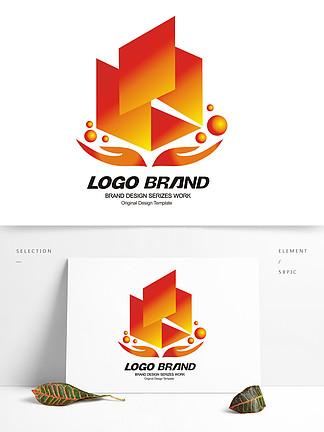简约建筑地产房产logo标志设计