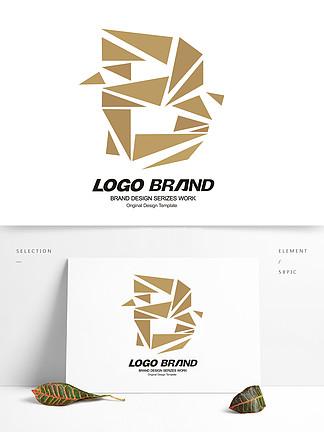 创意金色B字母房地产行业LOGO标志设计
