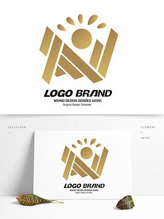 矢量简约建筑地产房产logo标志设计
