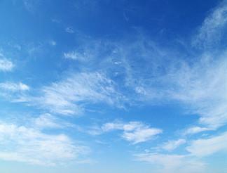 藍天白云天空攝影圖