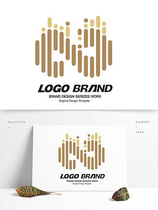 简约金色线条地产logo金融标志设计