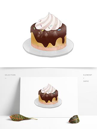 创意卡通手绘甜品面点奶油蛋糕元素