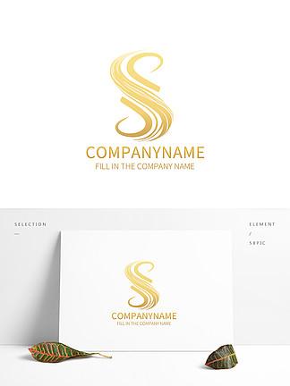 原創手繪S字母logo設計