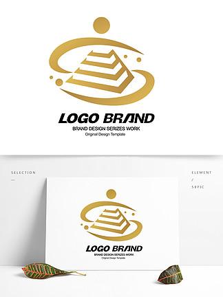 简约金色建筑房产logo标志设计