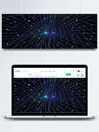 藍色科技星空背景圖片
