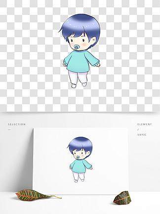 卡通可愛Q版娃娃人物素材免扣