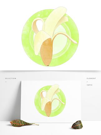 创意卡通手绘新鲜水果香蕉元素