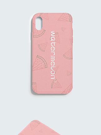 原创水果西瓜粉色手绘小清新创意手机壳