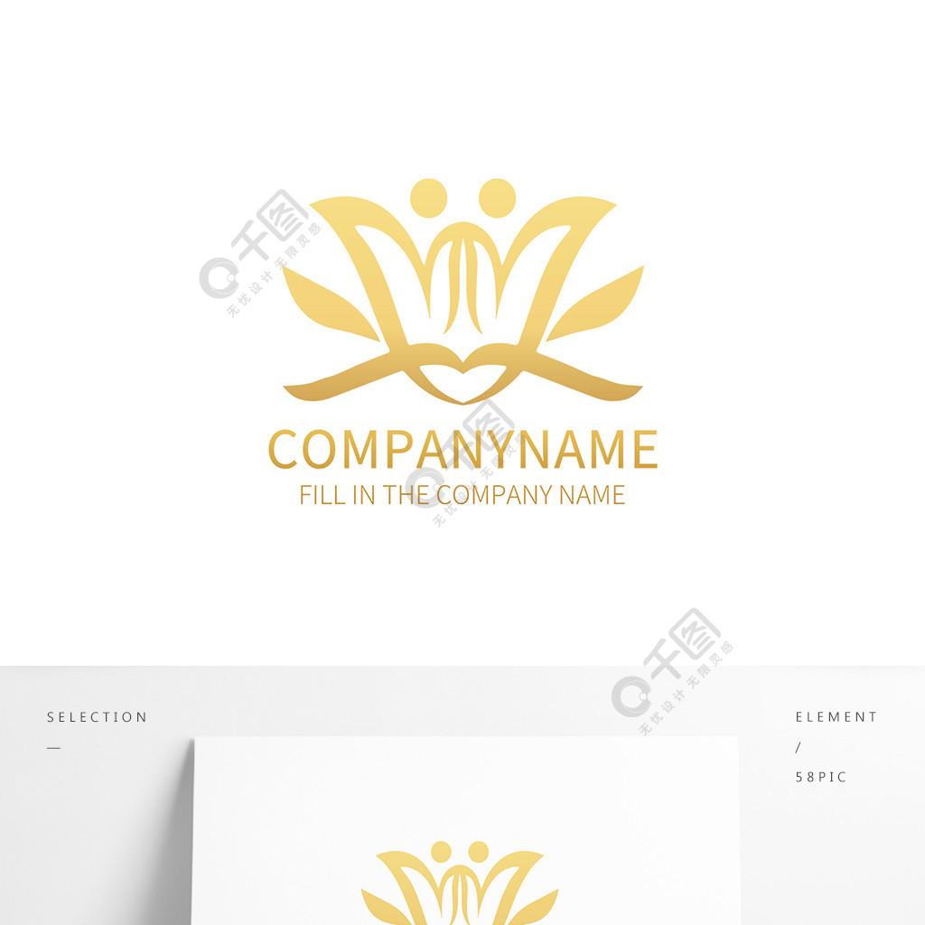 抽象花卉图案logo标志