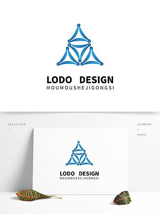 原創藍色科技自媒體大氣logo