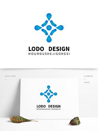原創漸變色醫藥保險logo