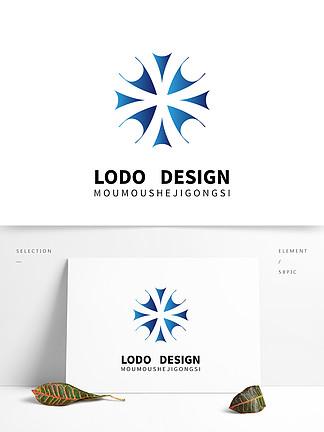原創藍色自媒體科技感大氣logo