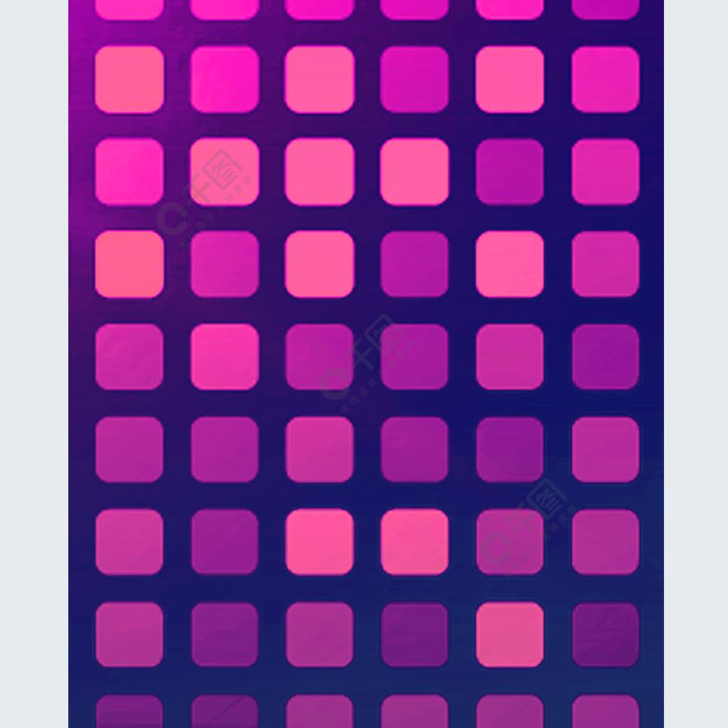 原创手绘唯美紫色DJ夜店炫酷小格子手机壳