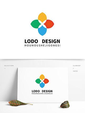 原創藝術機構彩色四葉草設計logo