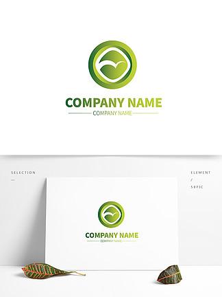 森林绿化公司企业渐变形状商标LOGO标示
