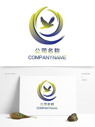 原創黃藍漸變公司logo