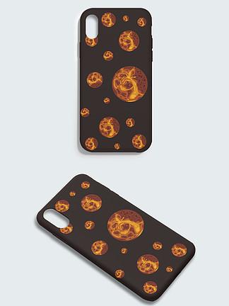 矢量平鋪水星貼紙手機殼