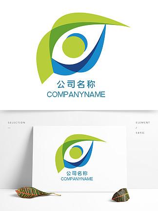 原創公司logo藍綠色簡約
