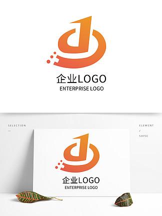 原創創意公司LOGO標志設計D字母設計