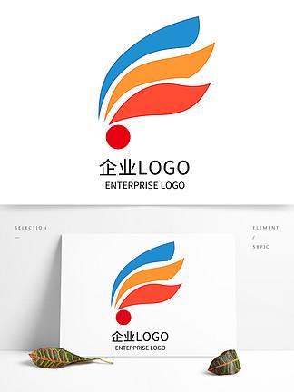 原創創意三色科技企業公司LOGO標志設計