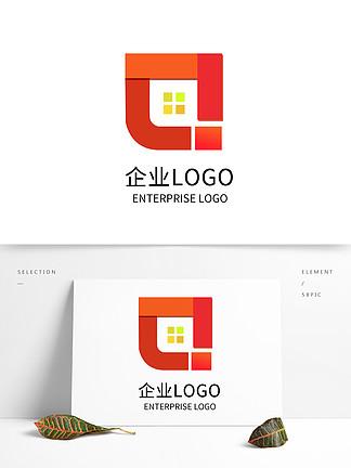 原創橙色漸變企業公司LOGO標志設計