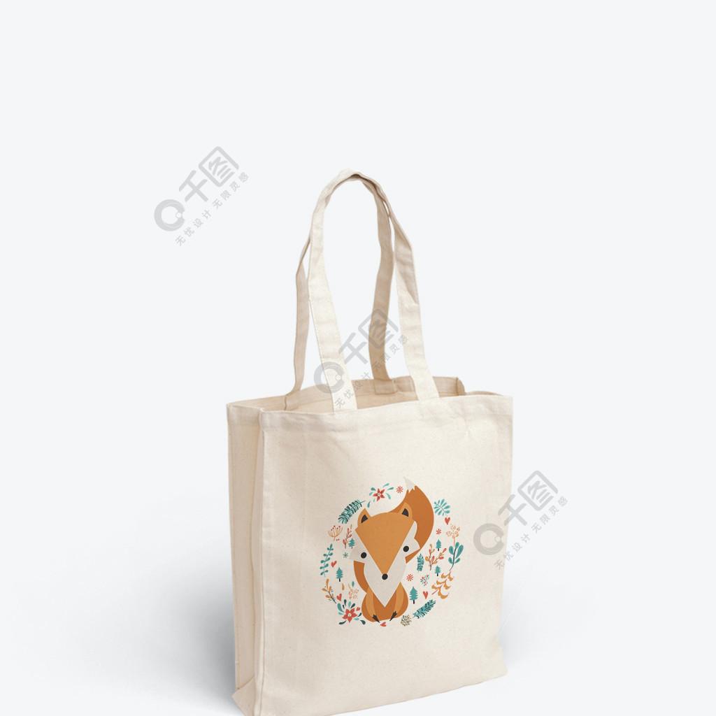 可愛狐貍插畫帆布袋包裝設計