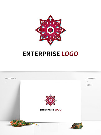 紅色商務大氣logo