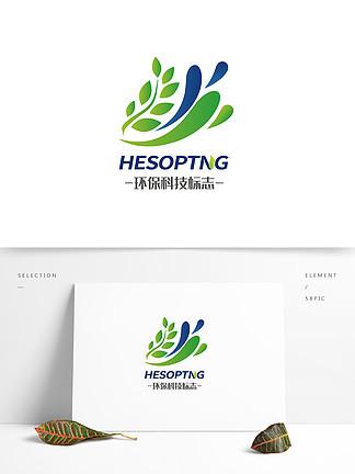 時尚綠色環保科技logo