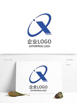 科技藍色公司LOGO設計企業標志