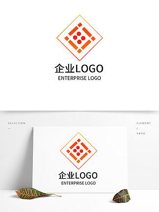 橙色紅色漸變矩形LOGO設計公司企業標志