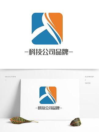 高級大氣科技公司品牌logo