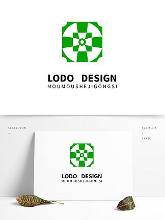 原創綠色古跡環保logo設計